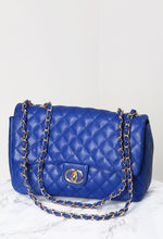 Cisse Royal Blue Quilted Chain Strap Bag