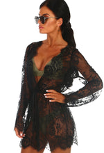 Bond Girl Black Lace Cover Up