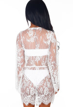 Bond Girl White Lace Cover Up