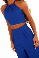 Botelli Cobalt Blue Cross Back Crop Top