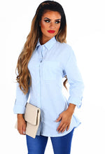 Bow Bow Blue and White Stripe Tie Waist Shirt