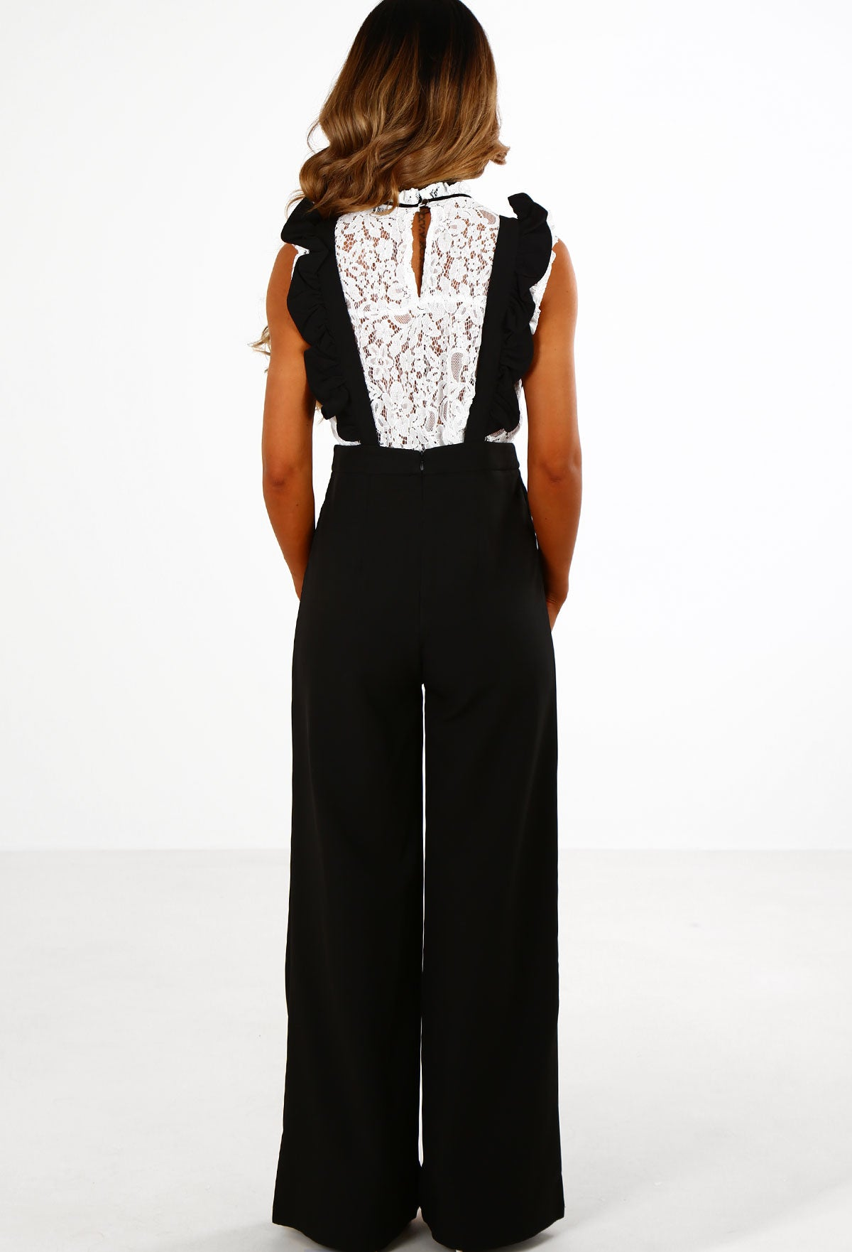 f8794d52c1 Cabaret Black Frill Brace High Waisted Wide Leg Trousers – Pink ...