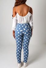 Candy Girl Blue and White Polka Dot Jeans
