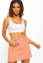 Candy Colours Pink Denim Mini Skirt