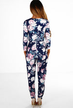 Casual Crush Navy Floral Wrap Jumpsuit