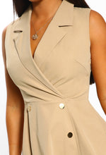 Stone Blazer Skater Mini Dress - Detail