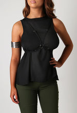 Chaya Black Harness Vest Top
