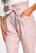 Check It Out Pink Check High Waisted Trousers