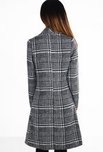Check The Right Boxes Monochrome Check Wool Coat