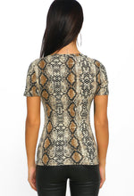 Cheek To Chic Multi Snake Print T-Shirt