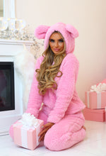 Chillin' With You Pink Fleece Hooded Lounge Set