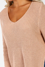 Chills Baby Nude Side Split Knitted Jumper