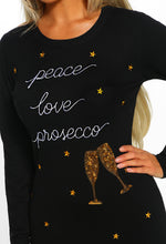Christmas Loving Black Sequin Slogan Christmas Jumper