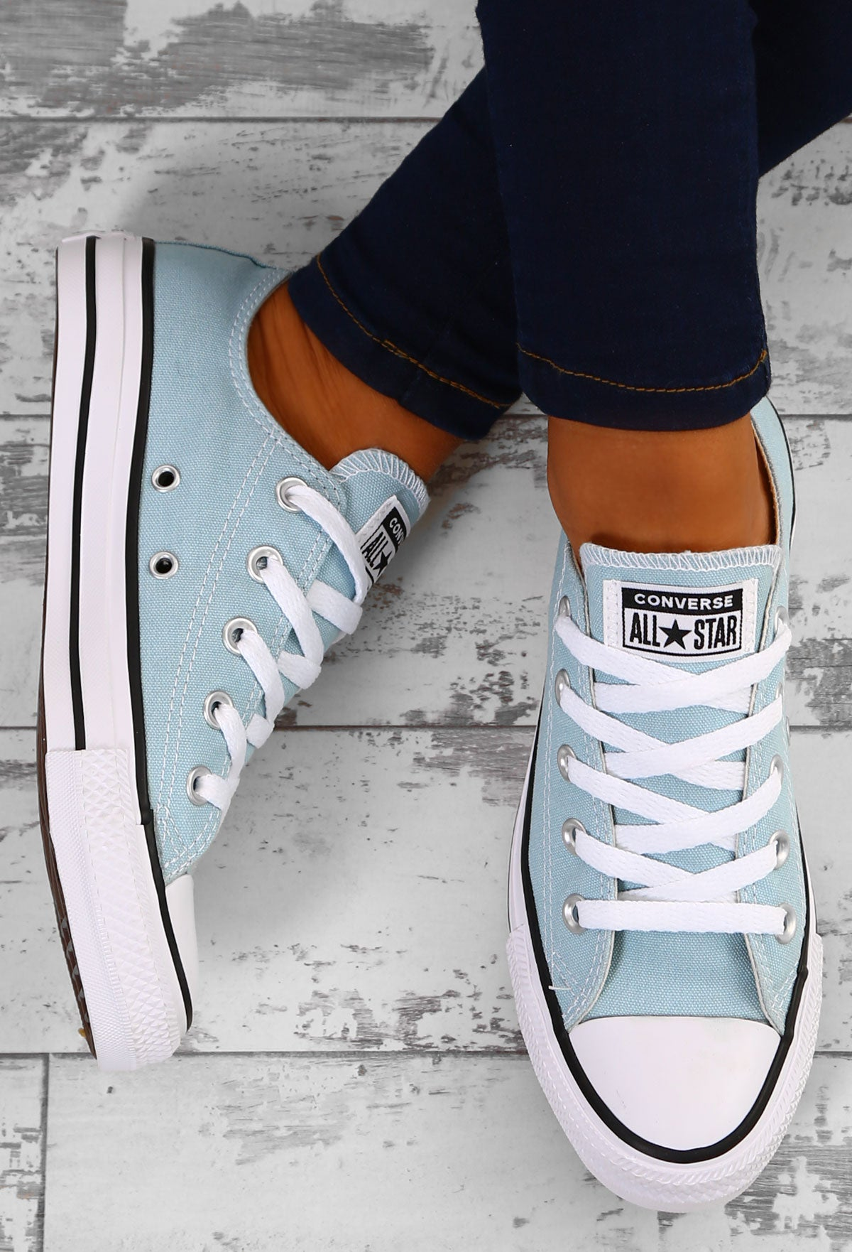 956fdccf0963 Chuck Taylor Converse All Star Ox Turquoise Trainers – Pink Boutique UK
