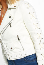 Lace Up Biker Jacket