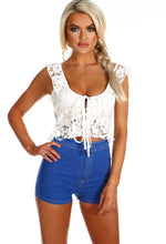 Coconut Love White Lace Frill Crop Top