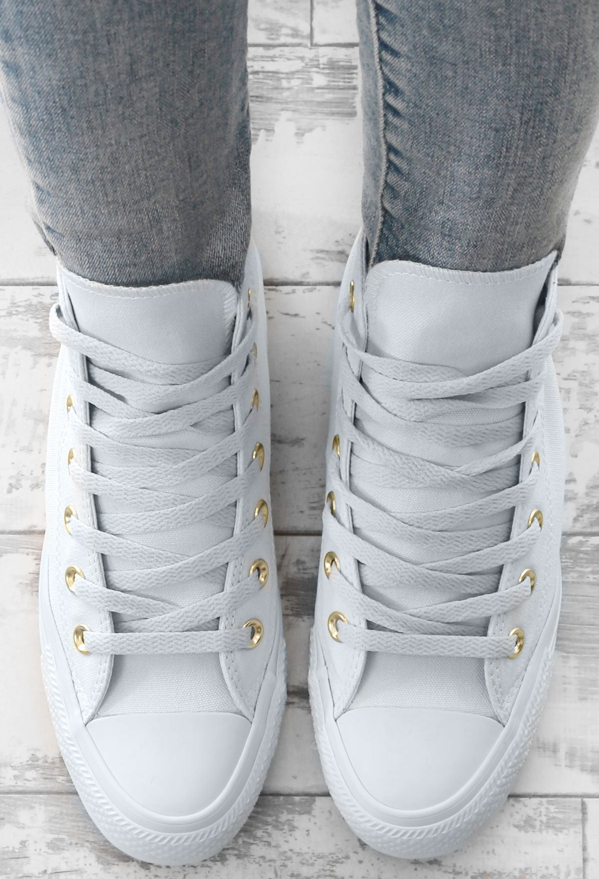 6df1c3458a4 Chuck Taylor Converse Ice Blue High Top Trainers – Pink Boutique UK