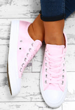 Chuck Taylor Converse All Star Baby Pink Satin Trainers