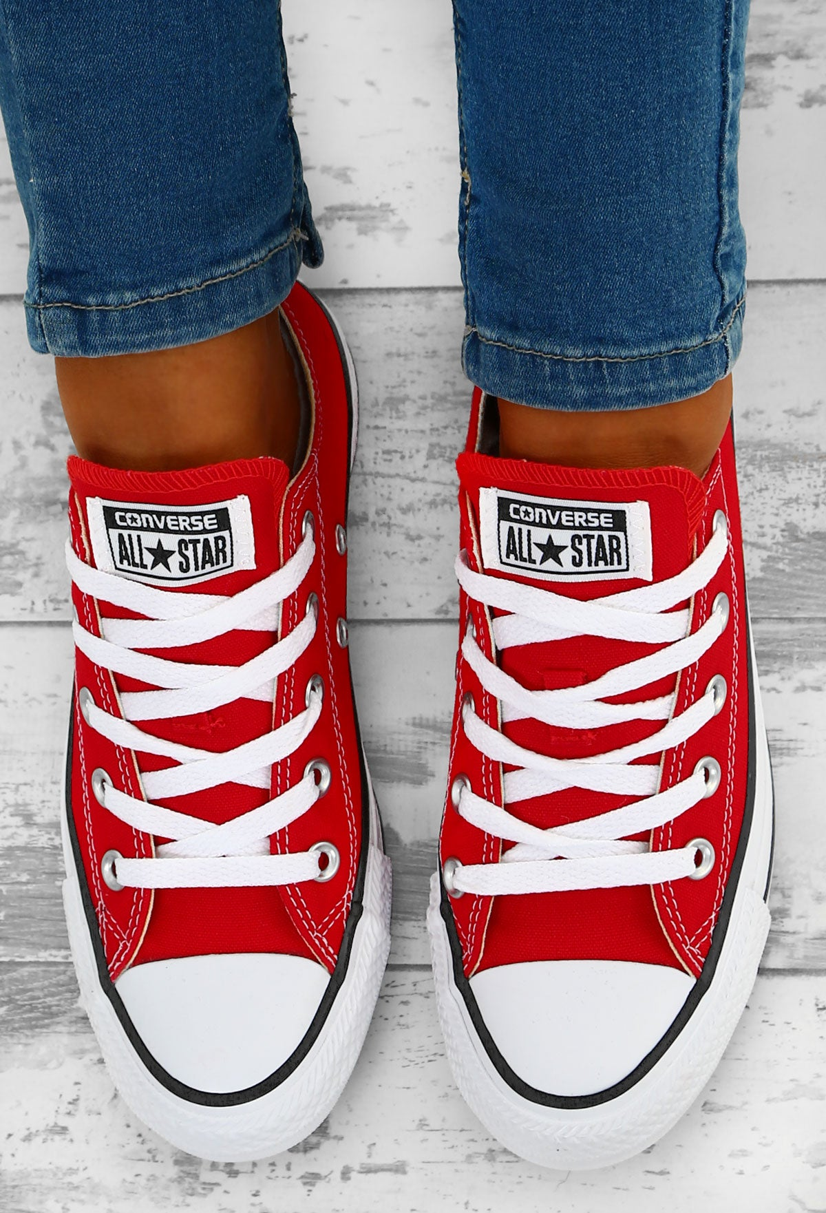 a39ea9f05a81 Converse Chuck Taylor All Star Red Trainers – Pink Boutique UK