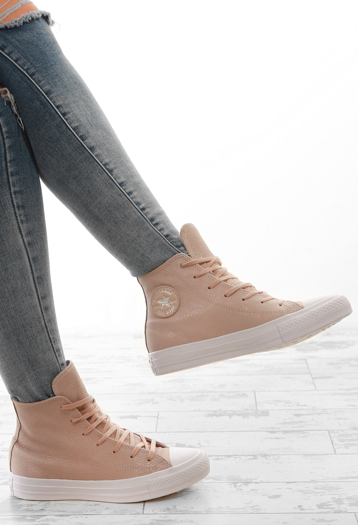 aac888908692 Chuck Taylor Converse Nude High Top Trainers – Pink Boutique UK
