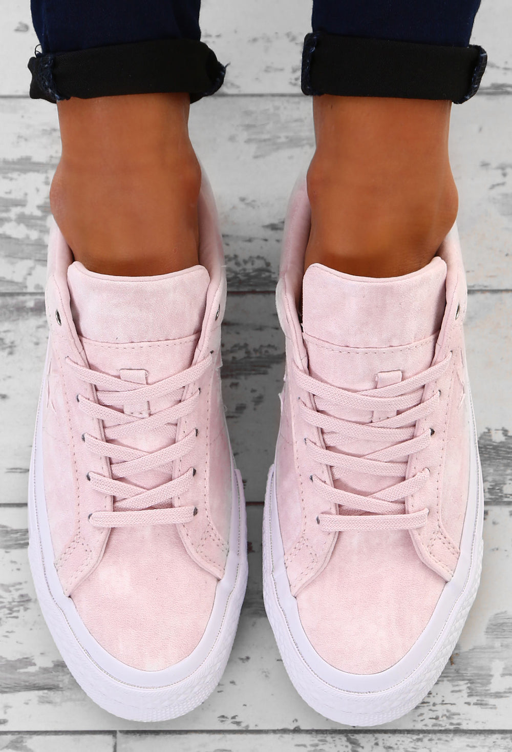 Pink Suede Trainers – Pink Boutique UK