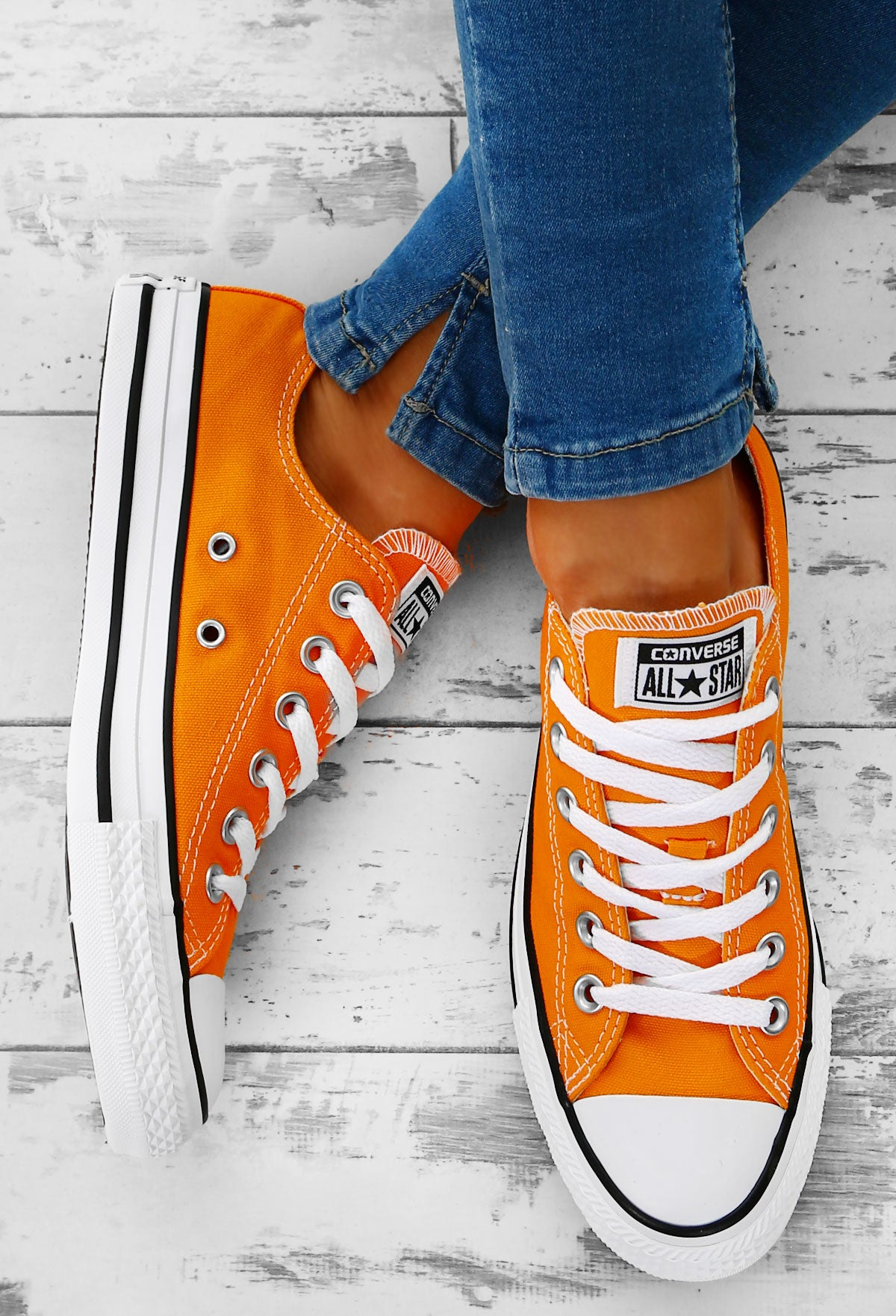 8530454a151a Converse Chuck Taylor All Star Orange Trainers – Pink Boutique UK