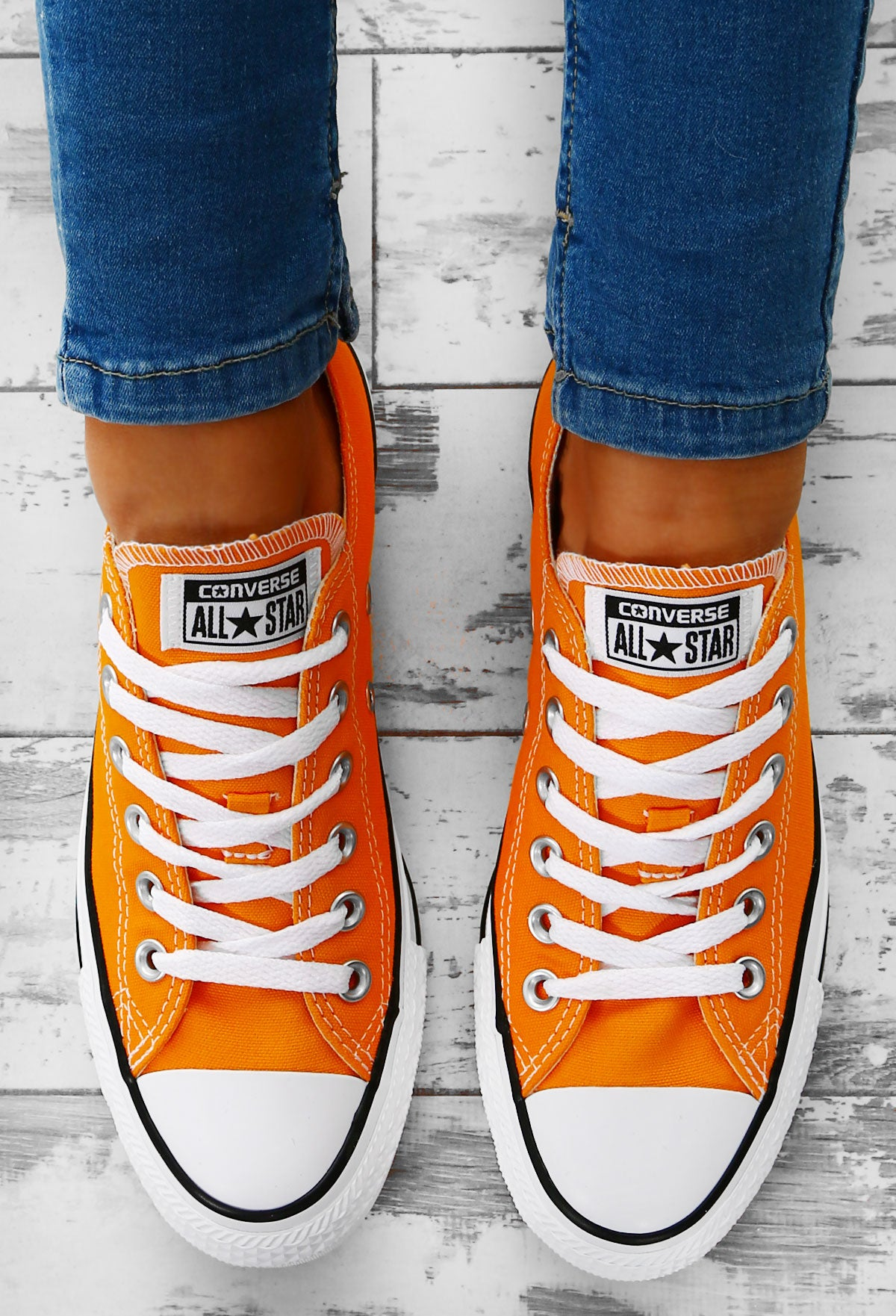Converse Chuck Taylor All Star Orange Trainers – Pink Boutique UK c8c893fc0cf29