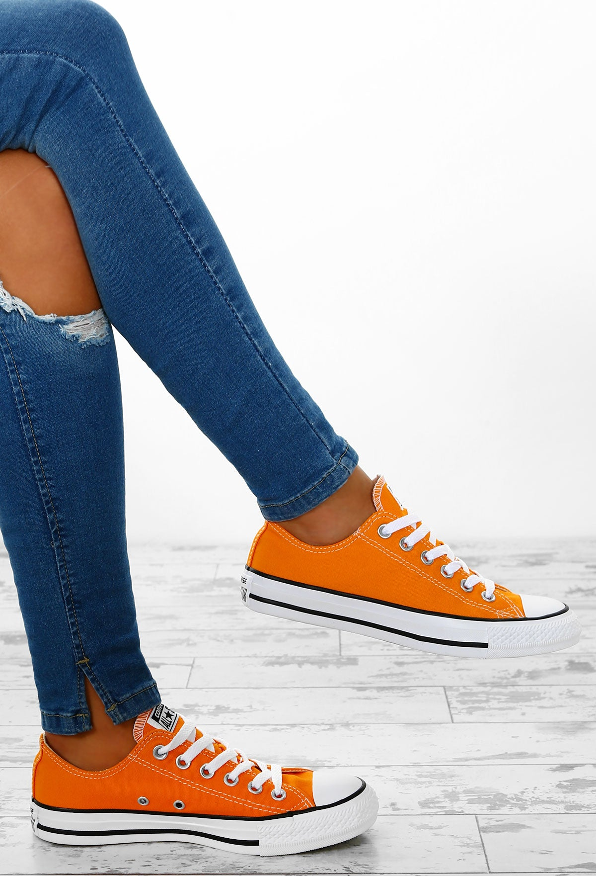 b4ab247a3bb Converse Chuck Taylor All Star Orange Trainers – Pink Boutique UK