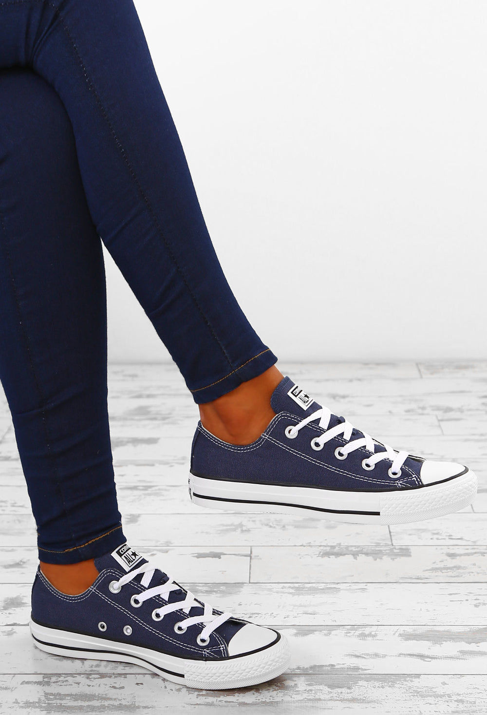 Star Ox Navy Trainers – Pink Boutique UK