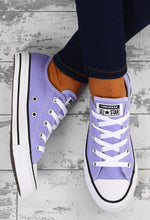 Chuck Taylor Converse All Star Ox Purple Trainers