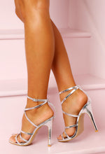 Cosmo Girl Silver Strappy Stiletto Heels