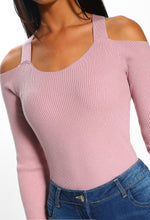 Cosy Chic Pink Frill Sleeve Ribbed Knitted Bodysuit