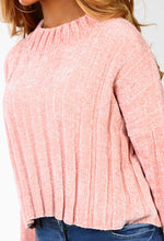 Cosy Days Pink Chenille Cropped Jumper