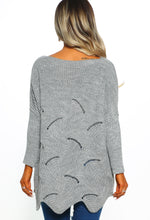 Cute And Cuter Grey Oversized Knitted Jumper