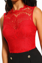 Cutie Pie Red Lace Bodysuit