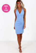 Dance Until Dawn Powder Blue Multi Strap Bodycon Mini Dress