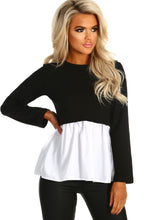 Day and Night Black Shirt Insert Long Sleeve Top