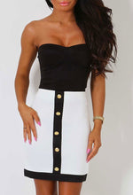 Debonair White Stretch Bodycon Mini Skirt