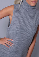 Delaney Grey Knitted Sleeveless Jumper
