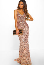 Diamond Nights Rose Gold Limited Edition Sequin Maxi Dress
