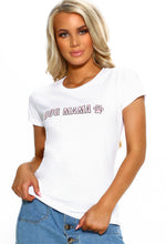 Dog Mama White Slogan T-Shirt