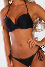 Dominica Doll Black Push Up Halterneck Bikini