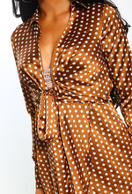Bronze Polka Dot Shirt Dress