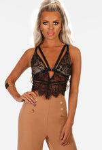 Down N Dirty Black Lace Harness Bralet
