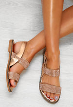 Rose Gold Diamante Sandals