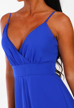 Dressed In Love Cobalt Blue Wrap Playsuit