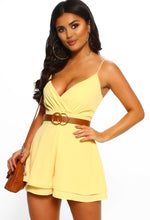 Yellow Wrap Front Playsuit