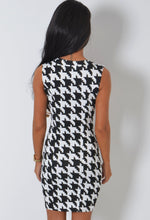 Andi Black and White Houndstooth Mini Dress