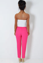 Blusher Hot Pink Textured Drape Blazer Trousers