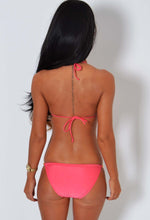 Tryst Coral and Gold Padded Chain Bikini